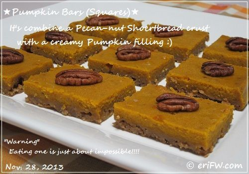 pumpkin barsの画像