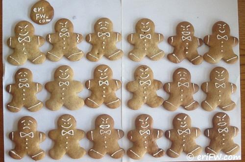 ジンジャーブレッドマン クッキーの画像